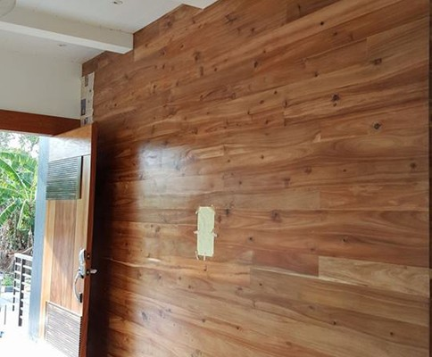 Acacia wall cladding