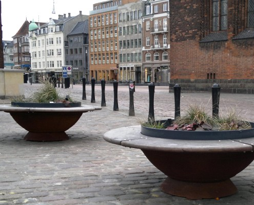 Filtra Timber bench components deployed in Aarhus Denmark